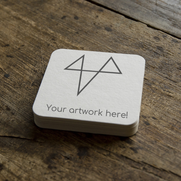 """Coaster with text """"your product here"""""""
